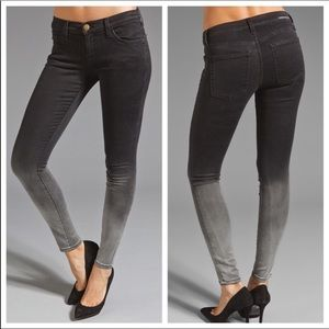 CURRENT ELLIOTT The Ankle Skinny Black Fade Jeans